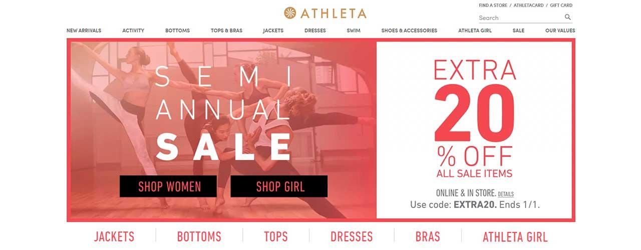 Free web scraper for Athleta Gap online store