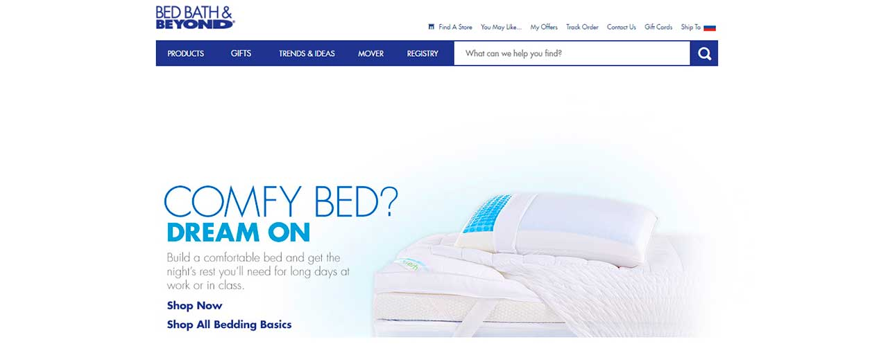 Gathering product and price data from Bed, Bath and Beyond online store
