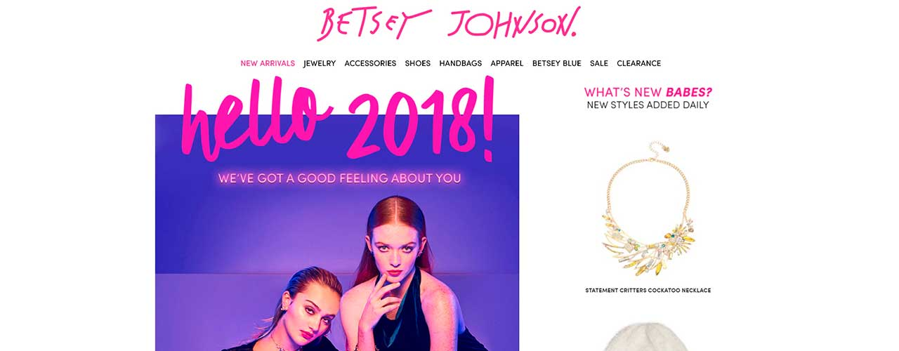 Scrape data from fashion stores with Diggernaut: Betsey Johnson