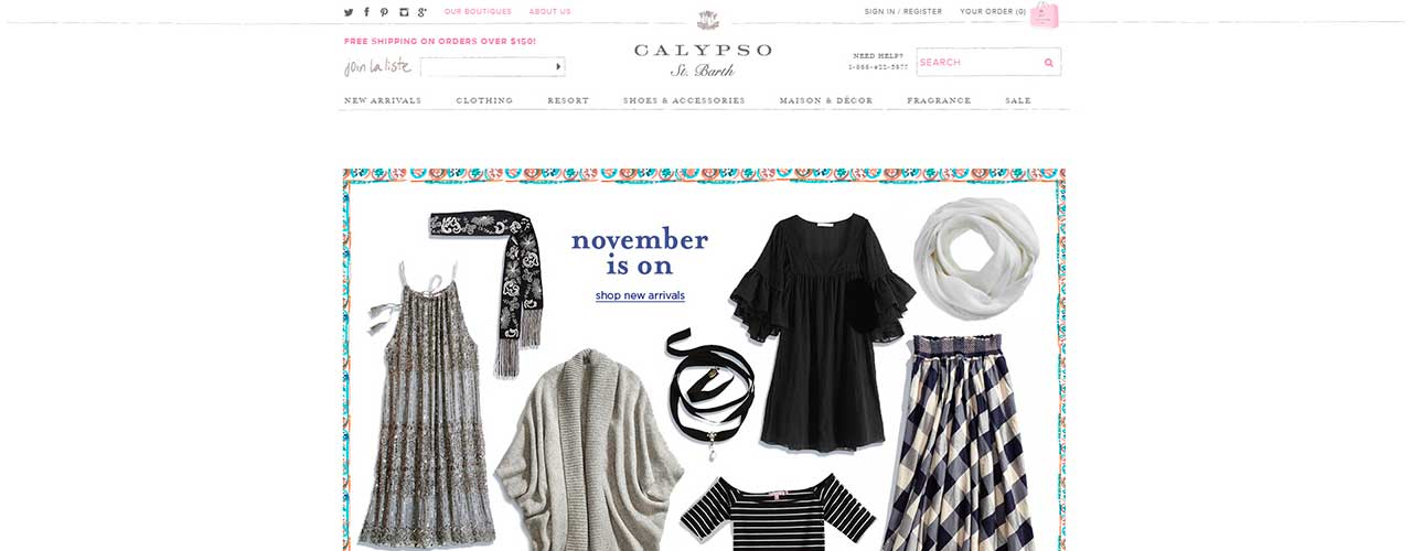 Extracting price and product information from Calypso St Barth online store