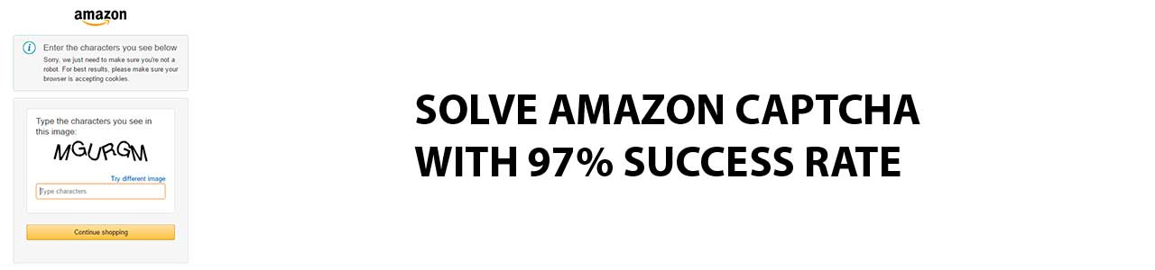 Solve Amazon captcha with 97% of success rate